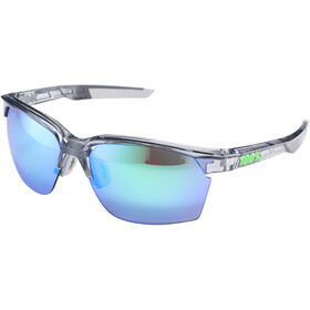 100% Sportcoupe Gafas, polished transl. crystal grey